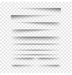 realistic transparent shadows set vector image