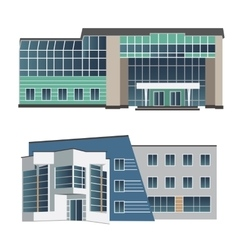 Set of two modern buildings vector image vector image