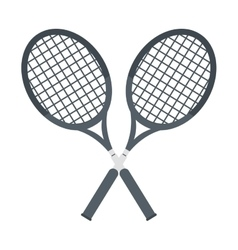 two racket crossed tennis graphic vector image