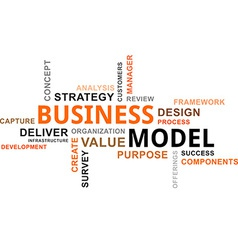 word cloud business model vector image vector image