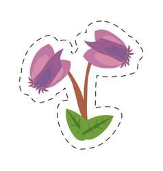 cartoon purple flower image icon vector image