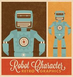 Robot Character vector image