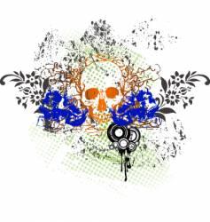 tattoo skull grunge vector image vector image