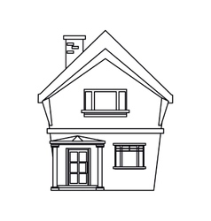 american house domestic chimney outline vector image vector image