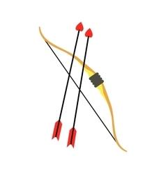 Cupid bow and arrows icon vector image vector image