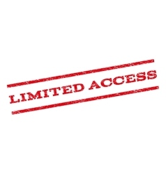 Limited Access Watermark Stamp vector image