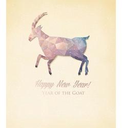 2015 calendar with a polygon goat vector