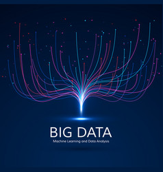 abstract big data visual concept digital vector image