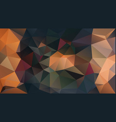 Abstract irregular polygon background orange green vector