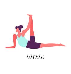 Anatasane pose yoga asana sport or fitness vector