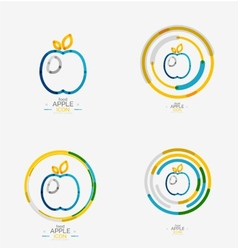Apple logo concept stamp vector