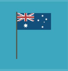 australia flag icon in flat design vector image