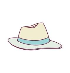 Beach hat panama icon vector