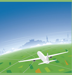 bratislava skyline flight destination vector image