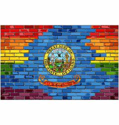 Brick wall idaho and gay flags vector