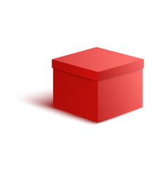 close red paper box in vector image