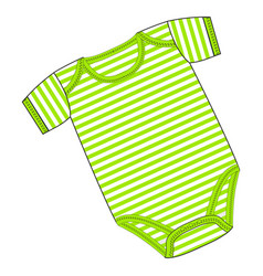 Clothes for newborn boy or girl vector