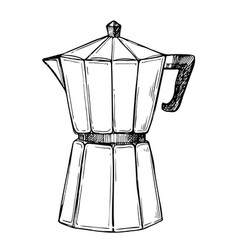 Coffee maker freehand pencil drawing vector