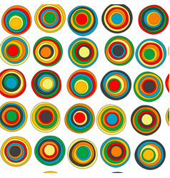 colorful concentric circles seamless background vector image
