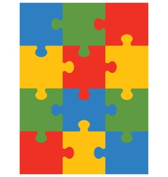 Colorful puzzle 12 vector