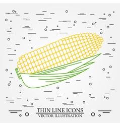 Corn thin line design Corn pen Icon Corn pen Icon vector