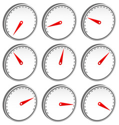 dial faces with pointer isolated on white measure vector image