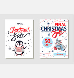 discount christmas sale on vector image