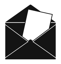 Envelope icon simple style vector