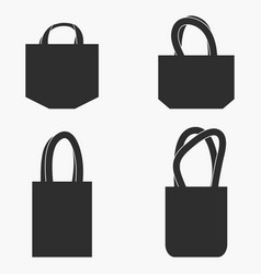 Fabric bag set vector
