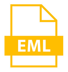 file name extension eml type vector image vector image
