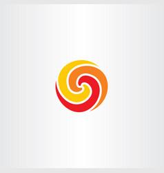 Fireball circle logo symbol spiral vector