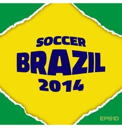 frame flag brazil vector image