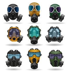 gas mask 10 vector image