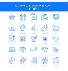Gdpr icons - futuro blue 25 icon pack vector