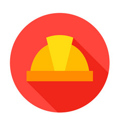 hard hat circle icon vector image