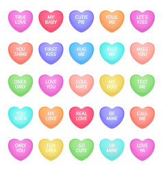 Hearts shape candies cute valentine heart shapes vector