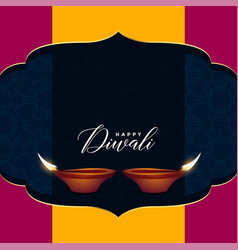 hindu diwali sale greeting design with text space vector image