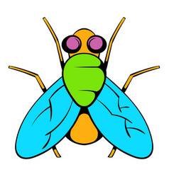 Insect fly icon icon cartoon vector