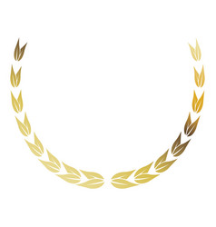 Laurel wreath gold victory decoration leaves vector