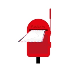 Mailbox or postbox icon image vector