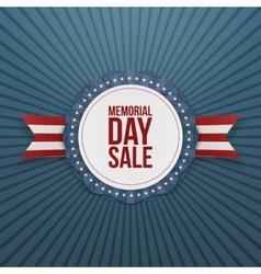 Memorial Day Sale greeting Emblem and Ribbon vector