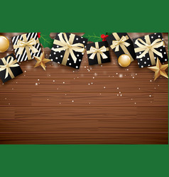 merry christmas background design template gift vector image