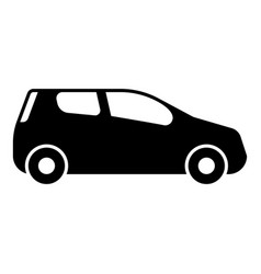 Mini car compact shape for travel racing icon vector
