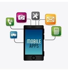 Mobile apps design vector