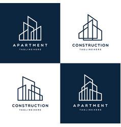 modern logo template real estate vector image