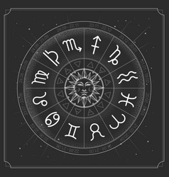 Modern magic witchcraft astrology wheel vector