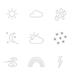 outlined weather icons vector image