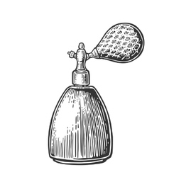 Perfume bottle spray black vector