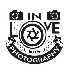 Photography quote and saying in love vector
