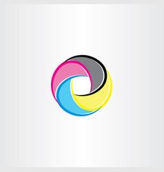 print logo symbol icon cmyk color vector image
